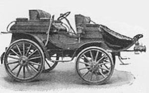 image of an early design car