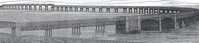line drawing of the Tay Bridge
