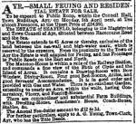 newspaper clipping describing the Seafield estate