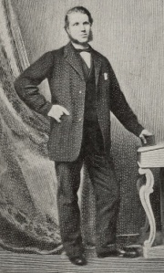 Full length formal portrait of William Arrol standing