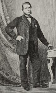 Full length formal portrait of William Arrol standing