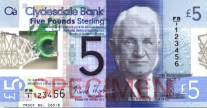 image of banknote with portrait of Sir William Arrol