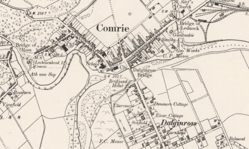 Ordnance Survey map of Comrie